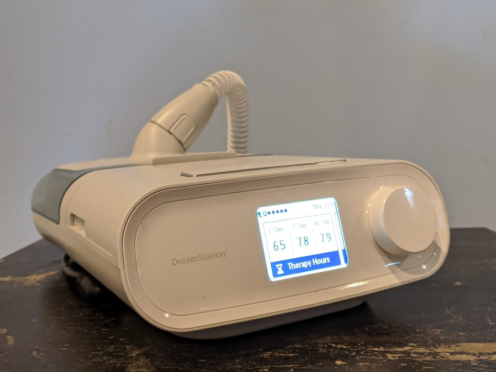 CPAP with heated hose by Philips Respironics