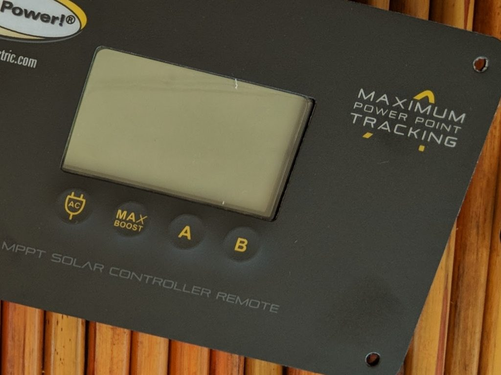 Solar charge controller remote panel