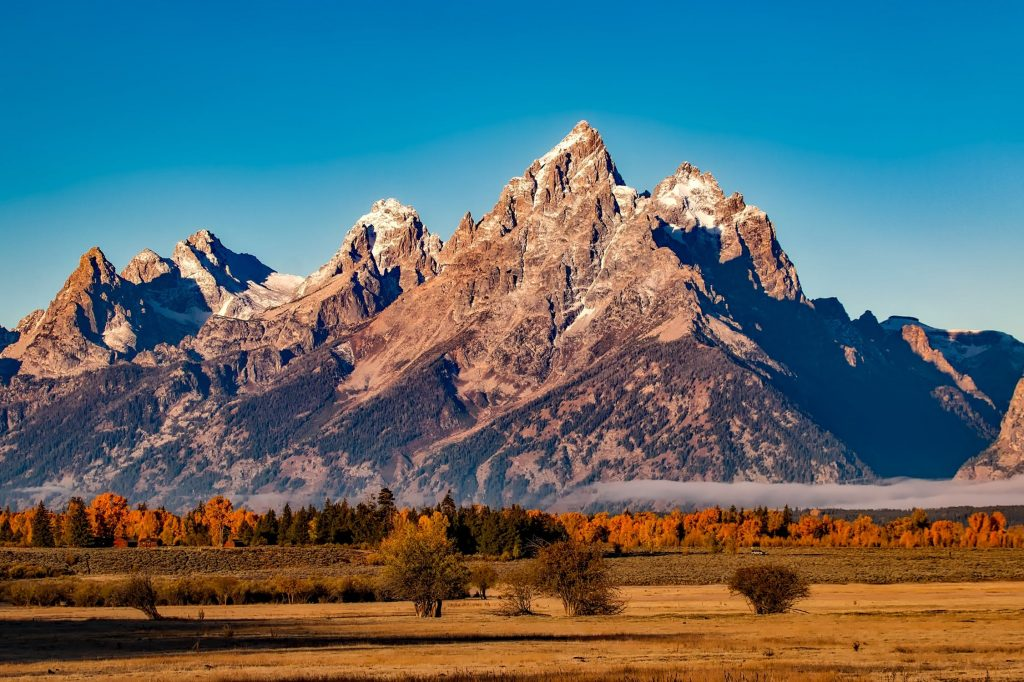 Grand tetons are perfect for camping.